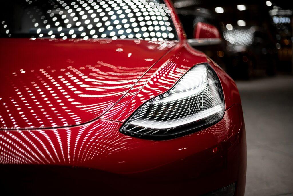 Red Tesla 3